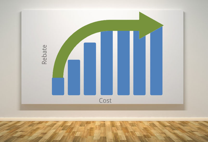 Rebates and cost cap graph